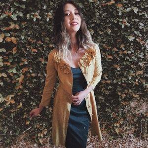 Dresses & Skirts - Vintage Yellow Coat/Dress